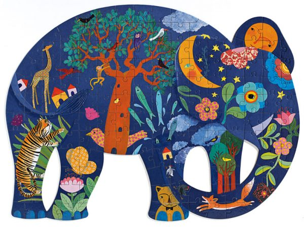 Elephant Puzzle Art 150 Piece Jigsaw Puzzle - Djeco