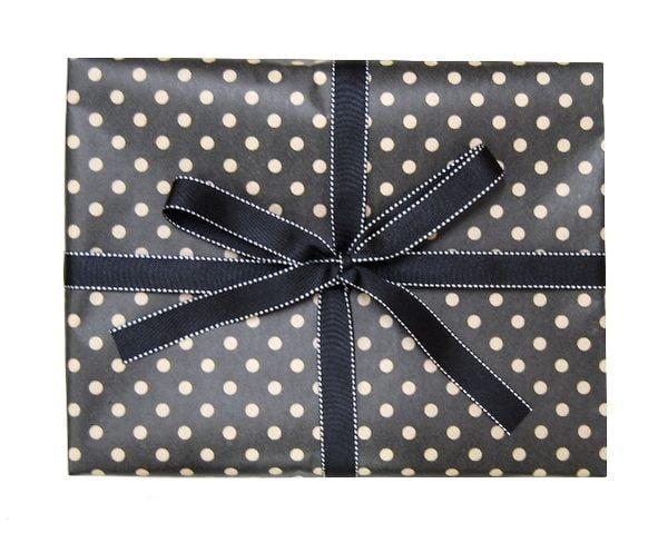 Gift Wrap Combo - Kraft Dots on Black
