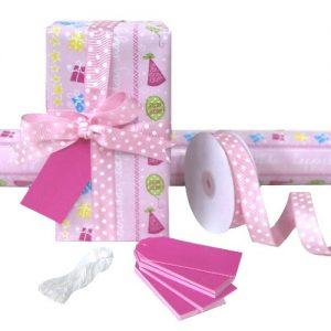 Gift Wrap Set - Pink Happy Birthday