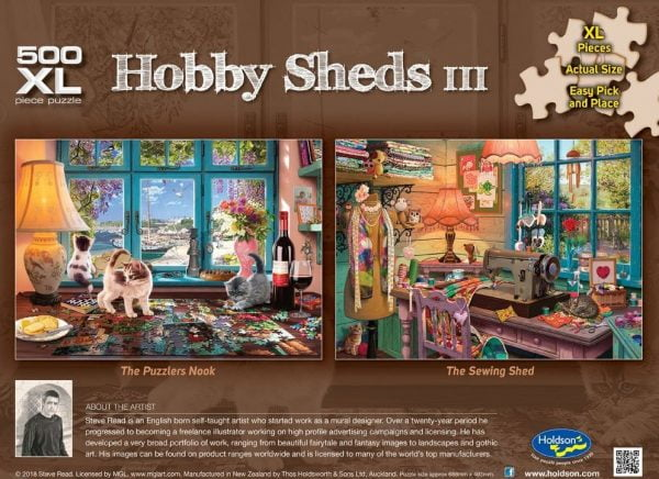 Hobby Sheds III - The Puzzlers Nook 500 XL Piece Puzzle - Holdson