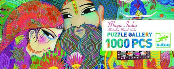 Magic India 1000 Piece Jigsaw Puzzle - Djeco