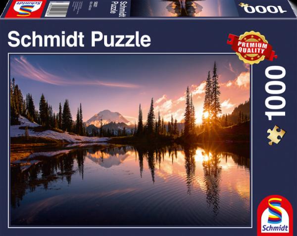 Mountain Scene 1000 Piece Jigsaw Puzzle - Schmidt