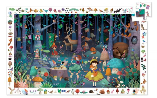 Observation Puzzle - Enchanted Forest 100 Piece - Djeco