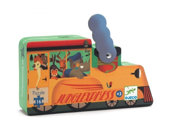 The Locomotive 16 Piece Silhouette Box Jigsaw Puzzle - Djeco