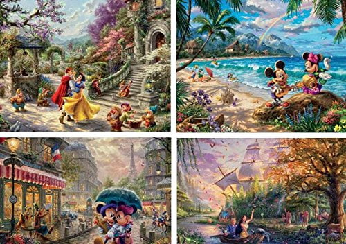 Thomas Kinkade 4-in-1 500 Piece Jigsaw Puzzle Set