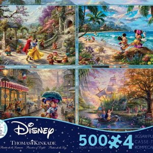 Thomas Kinkade 4-in-1 Multi Pack Puzzles (500 Piece Each