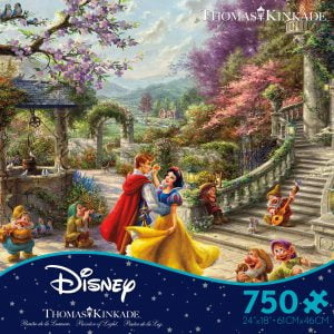 Thomas Kinkade Disney Snow White Dancing in the Sunlight 750 Piece Puzzle