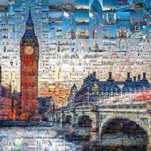 Tsevis London Photomosaic 1000 Piece Jigsaw Puzzle - Schmidt