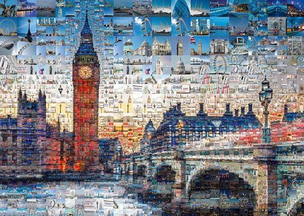 Tsevis London Photomosaic 1000 Piece Jigsaw Puzzle - Schmidt