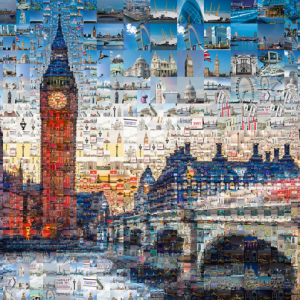 Tsevis London Photomosaic 1000 Piece Puzzle - Schmidt