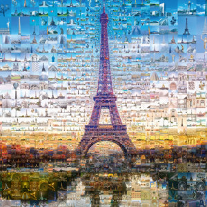 Tsevis Paris Photomosaic 1000 Piece Jigsaw Puzzle