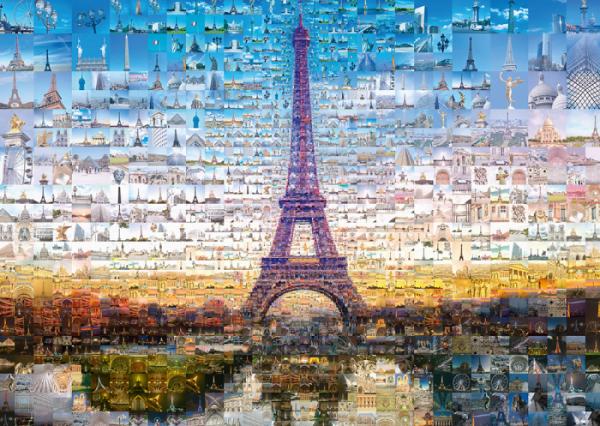 Tsevis Paris Photomosaic 1000 Piece Jigsaw Puzzle