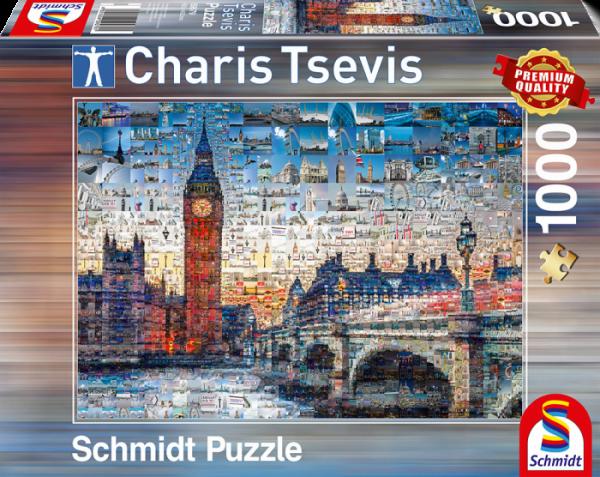 Tsevis Paris Photomosaic 1000 Piece Puzzle - Schmidt