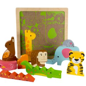Wild in the Jungle Chunky Puzzle - Kiddie Connect