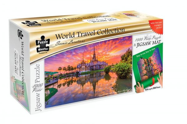 World Travel Collection - Jigsaw Mat + Thailand 1000 Piece Puzzle
