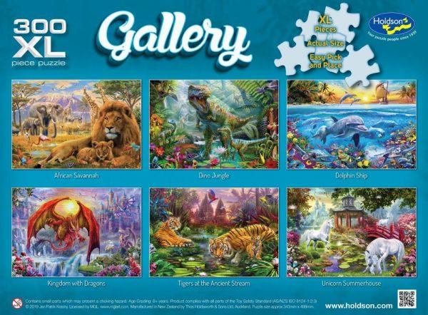 Gallery 5 - Dino Jungle - 300 XL Piece Jigsaw Puzzle - Holdson