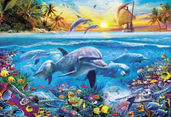 Gallery 5 - Dolphin Ship 300 XL Piece Jigsaw Puzzle - Holdson
