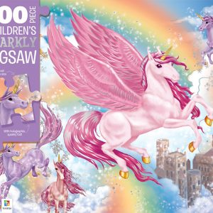 Unicorn Kingdom 100 Piece Children's Sparkly Jigsaw Puzzle - Hinkler