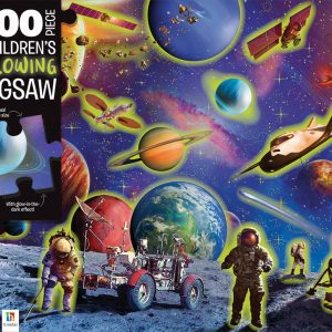 Space Explorers 100 Piece Children's Glowing Jigsaw Puzzle - Hinkler