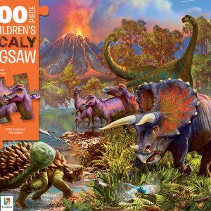 Dinosaur Island 100 Piece Children's Scaly Jigsaw Puzzle - Hinkler