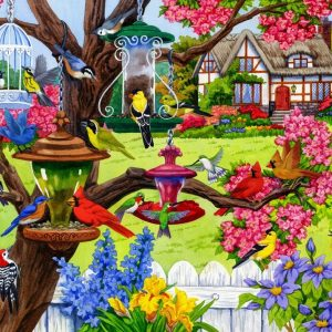 Birdsong - A Bountiful Spring 1000 Piece Jigsaw Puzzle - Holdson