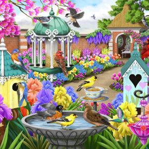 Birdsong - Home in a Victorian Garden 1000 Piece Jigsaw Puzzle - Holdson