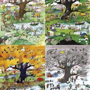 Blachon - 4 Seasons 2000 Piece Jigsaw Puzzle - Heye
