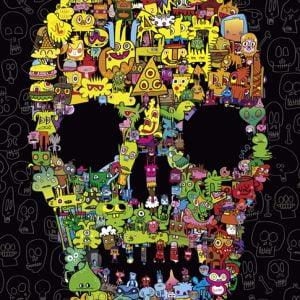Burgerman - Doodle Skull 1000 Piece Jigsaw Puzzle - Heye