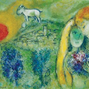 Chagall - Lovers of Vence 1000 Piece Jigsaw Puzzle - Eurographics