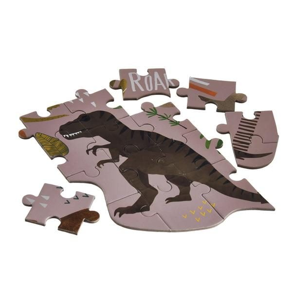 Dinosaur Dino Shaped 80 Piece Jigsaw Puzzle - Floss & Rock