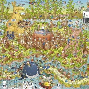 Funky Zoo - Australian Habitat 1000 Piece Jigsaw Puzzle - Heye