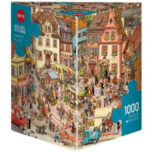 Gobel & Knorr - Market Place 1000 Piece Jigsaw Puzzle - Heye