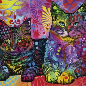 Jolly Pets - Devoted 2 Cats 1000 Piece Jigsaw Puzzle - Heye