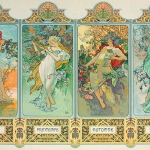 Mucha - The Four Seasons (Variant 3) 1000 Piece Jigsaw Puzzle - Eurographics