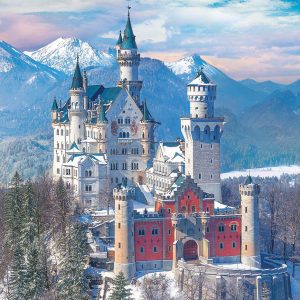 Neuschwanstein Castle in Winter 1000 Piece Puzzle - Eurographics