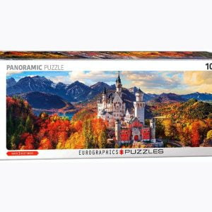 Neuschwanstiein in Autumn 1000 Piece Panoramic Puzzle - Eurographics