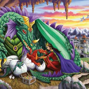 Queen of Dragons 200 XXL Piece Jigsaw Puzzle - Ravensburger