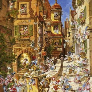 Romantic Town - By Day 1000 Piece Jigsaw Puzzle