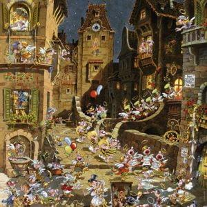 Romantic Town - By Night 1000 Piece Jigsaw Puzzle - Heye