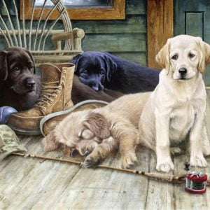 Ruff Day 750 Large Piece Format Jigsaw Puzzle - Ravensburger