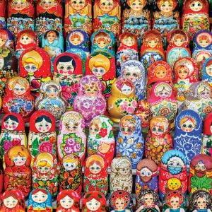 Russian Matryoschaka Dolls 1000 Piece Jigsaw Puzzle - Eurographics