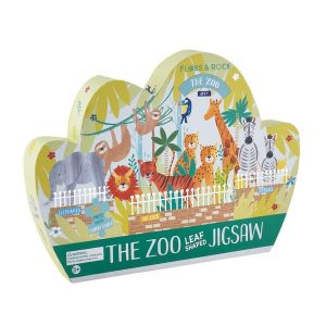 The Zoo 80 Piece Leaf Shaped Jigsaw Puzzle - Floss & Rock
