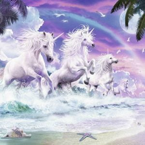 Unicorns on the Beach 150 Piece Jigsaw Puzzle - Ravensburger