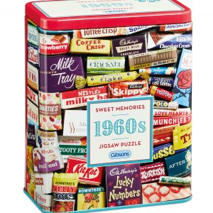 1960s Sweet Memories Tin 500 Piece Jigsaw Puzzle - Gibsons