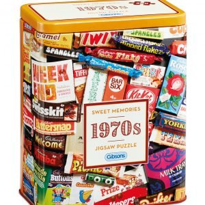 1970S Sweet Memories Tin 500 Piece Jigsaw Puzzle - Gibsons