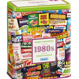 1980s Sweet Memories tin 500 Piece Jigsaw Puzzle - Gibsons
