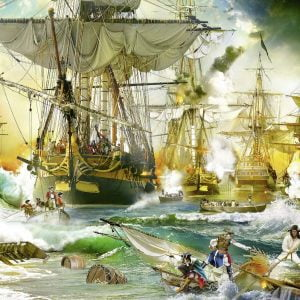 Battle on the High Sea 5000 Piece Jigsaw Puzzle - Ravensburger