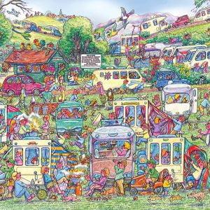 Caravan Chaos 1000 Piece Jigsaw Puzzle - Gibsons