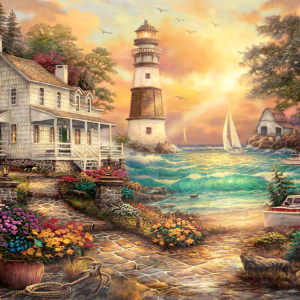 Cottage by the Sea 1000 Piece Jigsaw Puzzle - Anatolian