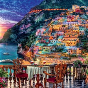 Dinner in Positano, Italy 1000 Piece Jigsaw Puzzle - Ravensburger